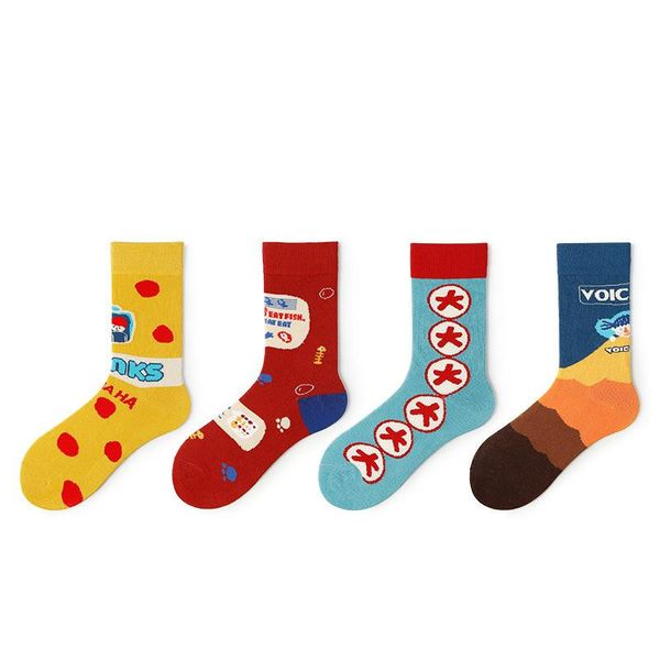 New socks in socks original cartoon pattern tide style illustration socks wholesale NHQY197010