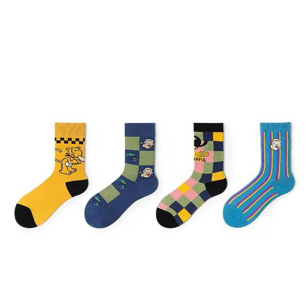 New socks female new tide socks Popeye sailor socks tube socks couple socks NHQY197008