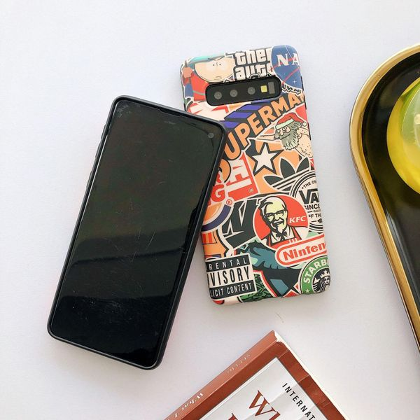 Samsung note10 mobile phone case frosted s10 s9plus graffiti Huawei p30 phone case NHHC196824