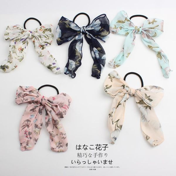 Wholesale handmade cloth hair ring large intestine floral cotton cloth forest hair accessories NHOF197038