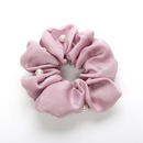 Korean cloth art headdress pearl hair band tying hair rubber band large intestine hair rope holster flower hair accessories wholesale NHOF197051