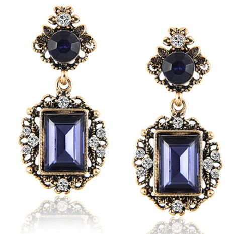Fashion jewelry wholesale diamond colorful women's earrings NHPF197073's discount tags