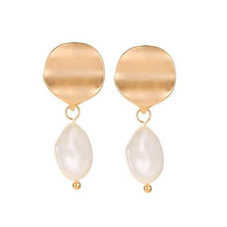 Korean Earrings Pearl Earrings Geometric Curved Smooth Round Stud Earrings NHCU197139's discount tags