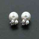 Korean jewelry wholesale zircon earrings flower pearl earrings fashion jewelry wholesale NHDP197156