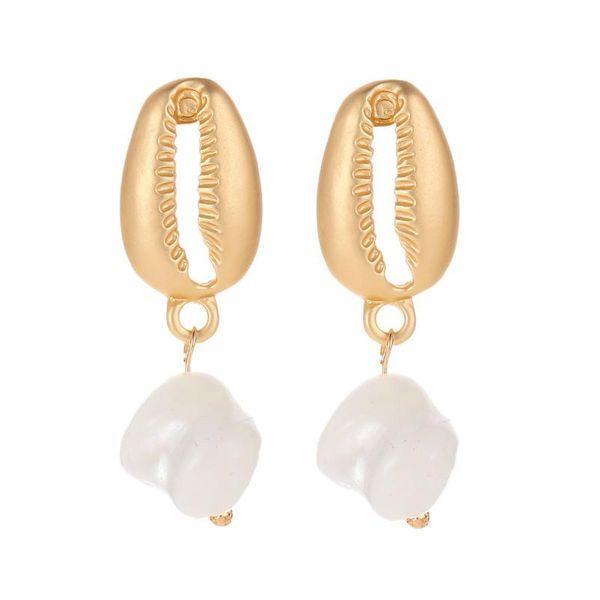 Korean earrings shell pearl earrings trend ear jewelry wholesale NHDP197165