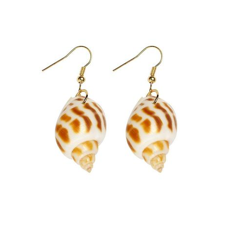 Fashion Natural Conch Dongfeng Conch Flower Conch Shell Earrings New Jewelry Wholesale NHDP197168's discount tags