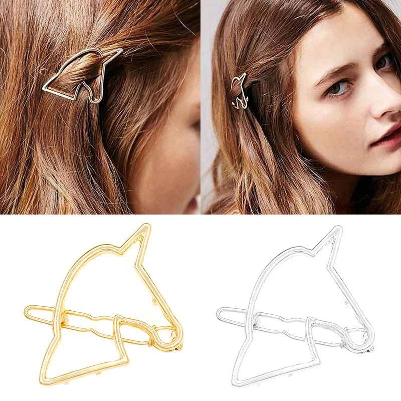 Korean Fashion Hair Accessories Wholesale Alloy Geometric Horse Hair Clip Wholesale NHDP197176