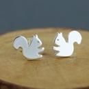 Hot sale little squirrel animal earrings alloy plated flat squirrel little mouse earrings wholesale NHCU197191
