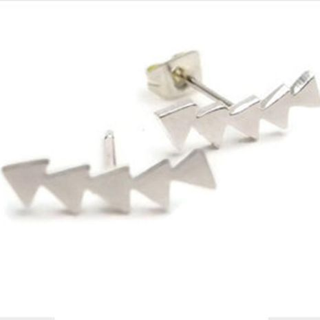 Fashion triangle earrings gold-plated silver arrow earrings triangle geometric earrings wholesale NHCU197206's discount tags