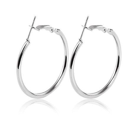 New Simple Geometric Circle Earrings Hypoallergenic Stainless Steel O-ring Hoop Earrings Wholesale NHCU197217's discount tags