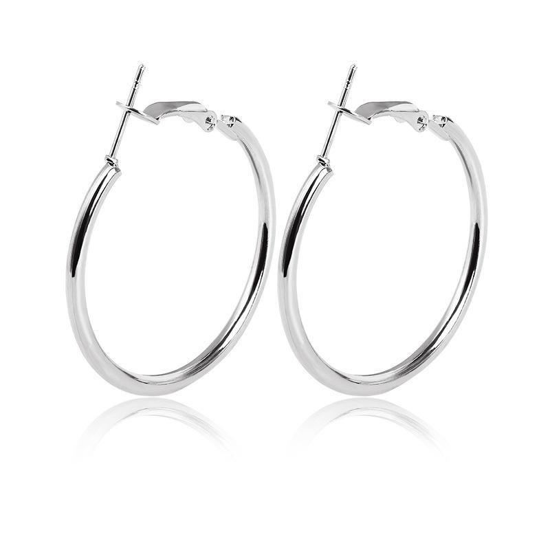 New Simple Geometric Circle Earrings Hypoallergenic Stainless Steel Oring Hoop Earrings Wholesale NHCU197217
