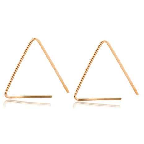 Simple Geometric Open Triangle Stud Earrings Gold Plated Silver Black Studs Wholesale NHCU197235's discount tags