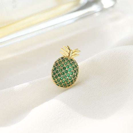 moda fruta linda piña pequeño broche simple salvaje anti-luz hebilla camisa collar pin NHDO197317's discount tags