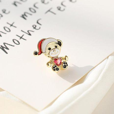 Cute dibujos animados oso oso broche mini broche simple salvaje ramillete anti-luz NHDO197332's discount tags
