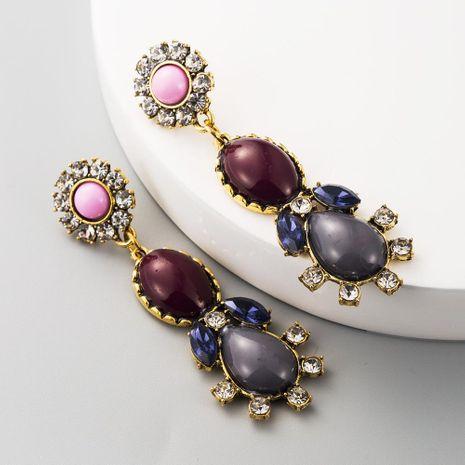 Pendientes largos de diamantes de imitación de borla vintage pendientes de flores de gema vintage al por mayor NHLN197349's discount tags