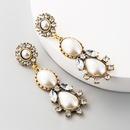 Vintage tassel rhinestone long earrings vintage gem flower earrings wholesale NHLN197349