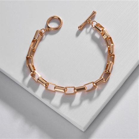 Joyería de moda al por mayor cadena de cobre pulsera hebilla cuadrada NHLU197354's discount tags