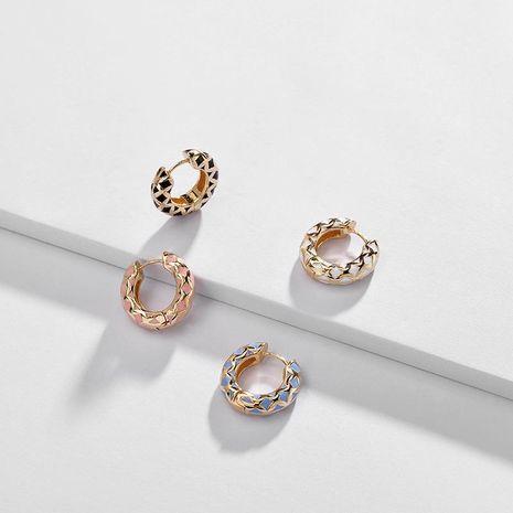 pendientes de joyería de moda pendientes de cobre pendientes de aceite de goteo de color nuevo clip de oreja NHLU197356's discount tags