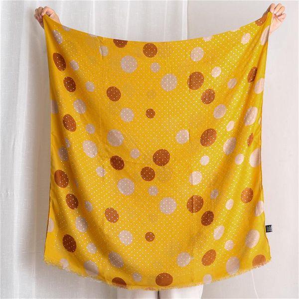 Women's Korean version of the wild yellow circle dot long shawl NHGD197370