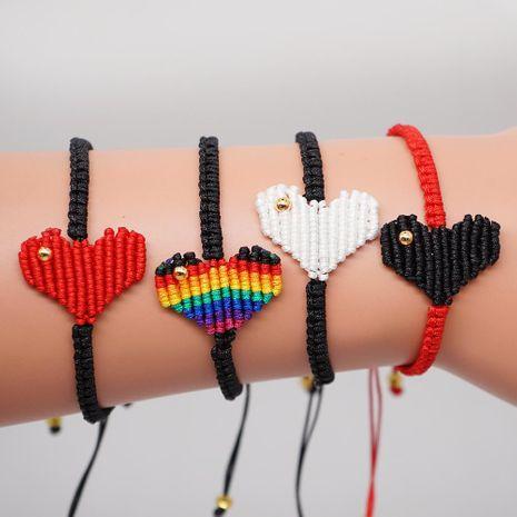 Rainbow Love Lady Bracelet Korean Love Friendship Rope Joyas tejidas a mano NHGW197371's discount tags