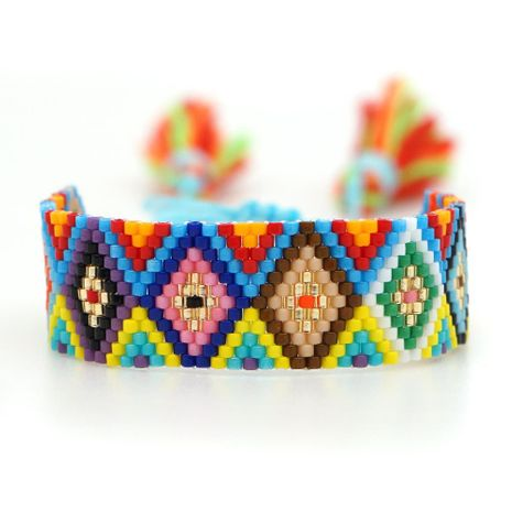Nueva pulsera de pareja de patrón geométrico de moda simple Pulsera tejida con cuentas de Miyuki NHGW197375's discount tags