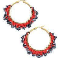 New Fashion Ethnic Earrings Miyuki Mizhu Woven Women's Big Circle Earrings NHGW197377