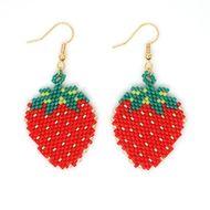 Fashion Miyuki Women's Beaded Strawberry Jewelry Earrings NHGW197382