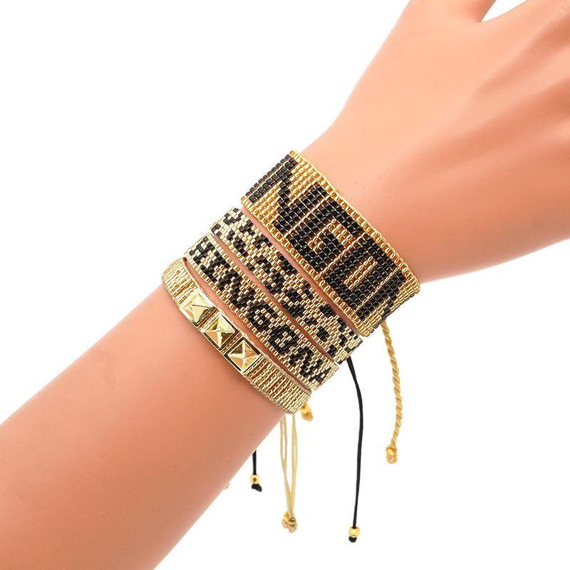 Fashion Miyuki Mizhu Weaving CHIH GONA Patterned Female Bracelet Punk Wind Studded Bracelet NHGW197387