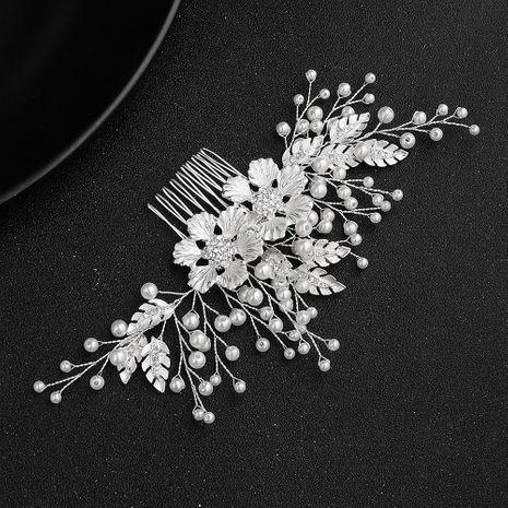 Bride DIY handmade hair accessories alloy flower diamond insert comb comb wedding head jewelry NHHS197399's discount tags