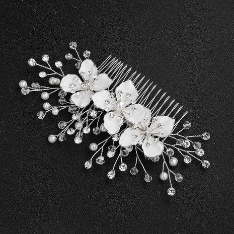 Fashion Headdress Wholesale Alloy Insert Comb Handmade Pearl Rhinestone Plate Hair Comb Wedding Hair Accessories NHHS197400's discount tags