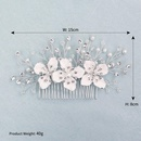 Fashion Headdress Wholesale Alloy Insert Comb Handmade Pearl Rhinestone Plate Hair Comb Wedding Hair Accessories NHHS197400