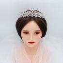 Vintage elegant crown white yarn headdress alloy diamond headband bridal hair jewelry NHHS197402