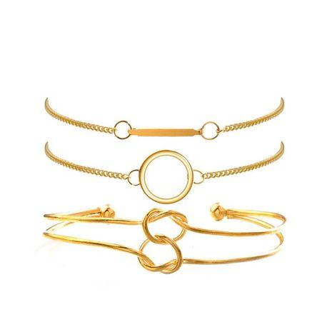 Pulsera de varilla larga anudada de círculo simple de moda pulsera de aleación de mujer al por mayor NHPV197426's discount tags