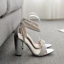 New women39s shoes chunky heel rhinestone high heel open toe cross strap sandals NHSO197437