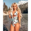 Wholesale Women39s Swimwear New Bikini Women39s Print Sexy One Piece Bikini Swimsuit NHHL197528