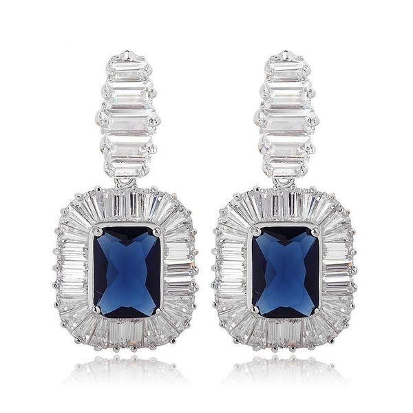 Fashion earrings AAA zircon inlaid zircon earrings jewelry wholesale NHTM197303