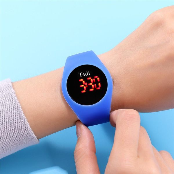 Korean Fashion Student Couple Watch Candy-colored LED Silicone Sports Watch NHSY197614