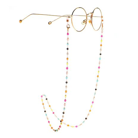 Glasses chain colorful crystal handmade glasses chain reading glasses anti-lost chain NHBC197624's discount tags