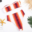 New gathered bikini tops sexy high waist cover belly triangle split NHHL197632