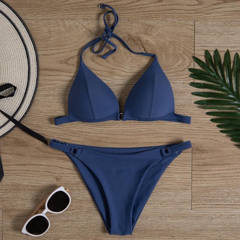 Hot sale ladies split bikini swimsuit women's swimwear NHHL197657