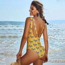New Pony Printed One Piece Swimsuit Women Backless Sexy Bikini Triangle Swimsuit NHHL197699