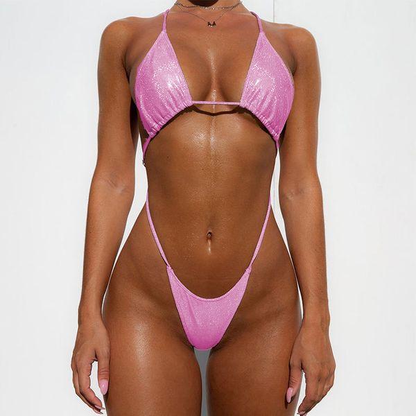 Solid color bikini wholesales fashion  NHDE197740