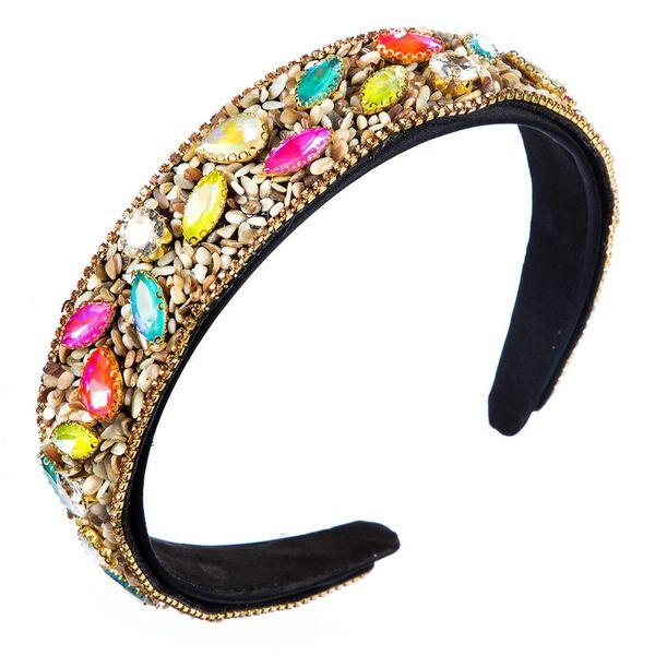 fashion high-end wide crystal women's headband wholesale NHLN197859