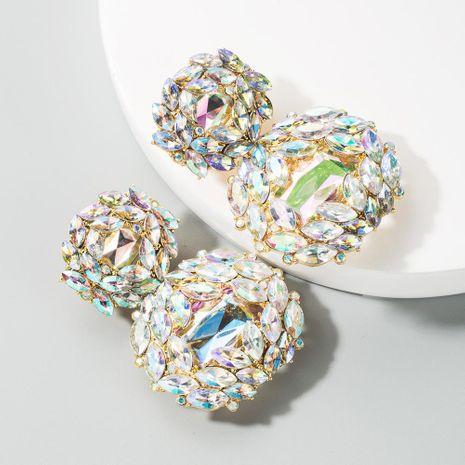 Fashion alloy geometric glass diamond earrings women wholesale NHLN197860's discount tags