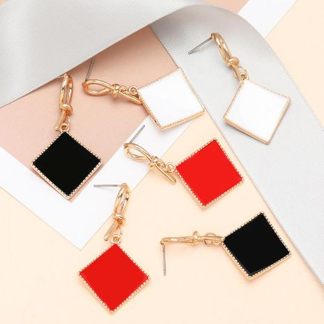 Fashion Curved Square Knotted Dripping Geometric Earrings for Women Wholesale NHJE197865's discount tags
