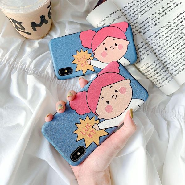 Cartoon cute girl Huawei glory 20 mobile phone case p30pro silk pattern all-inclusive iPhone X soft phone case NHDV197910
