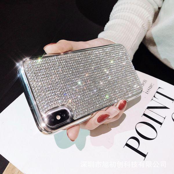 Funda de teléfono móvil con borde plateado de moda para iPhone xsmax funda de teléfono suave Huawei con flash de moda NHDV197918