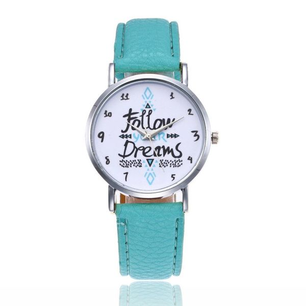 Follow Your Dream belt watch alphabet fashion digital scale quartz student watch NHSY197950