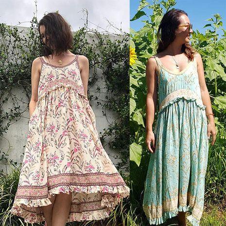 Nuevo vestido bohemio con volantes y estampado de vacaciones NHDF197971's discount tags