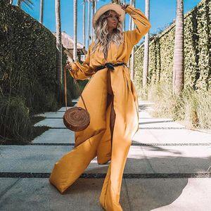 Nueva moda suelta color puro de manga larga con cordones chaqueta larga chaqueta de punto NHDF197998